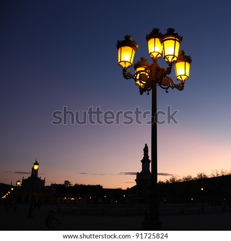 streetlight old - stock photo