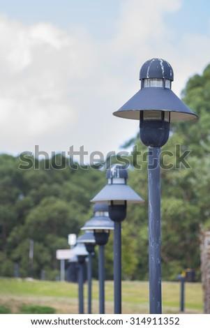 Streetlights. - stock photo