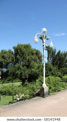 streetlights Lake Maggiore Italy