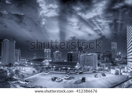 Streets of New Orleans, Lousiana. - stock photo