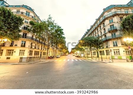 Streets of Paris. - stock photo