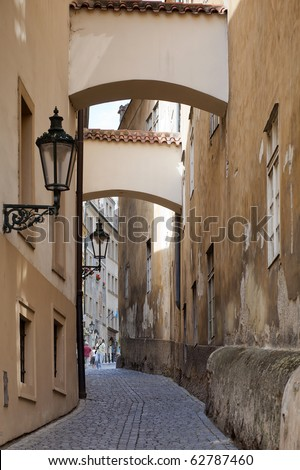 Streets of Prague, Czech Republic - stock photo