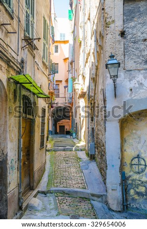 Streets of San Remo, Italy - stock photo