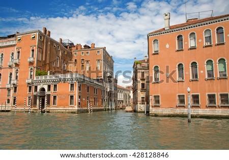 Streets of the ancient city Venice, Italy - stock photo