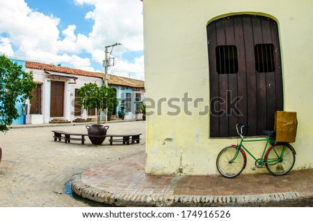 Streets views from Camaguey, Cuba - stock photo