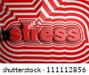 stress abstract text background - stock photo
