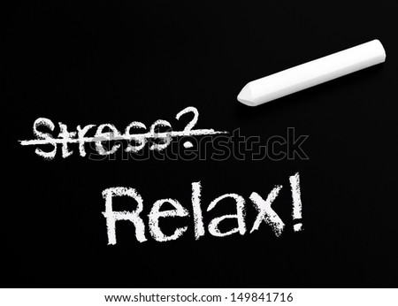 Stress and Relax - stock photo