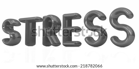 stress 3d text on a white background - stock photo