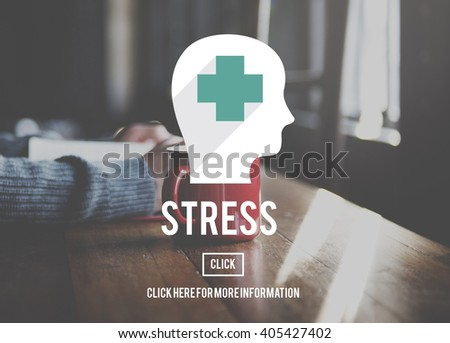 Stress Depression Exhaustion Frustration Panic Concept - stock photo