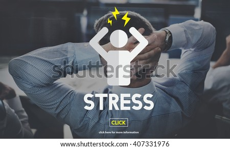 Stress Failure Depression Pressure Panic Concept - stock photo