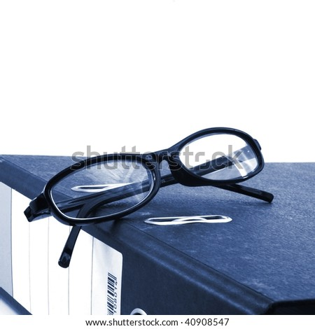 stress in business office with lots of paperwork - stock photo