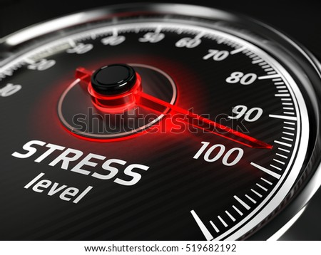 Stress level meter concept - 3d illustration