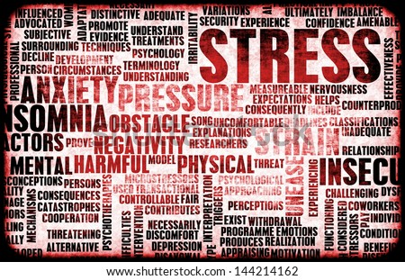 Stress Management and Being Over Stressed as Art - stock photo
