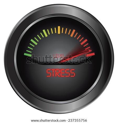 Stress meter indicate - stock photo
