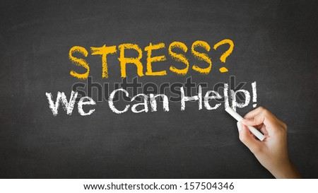 Stress we can help Chalk Illustration - stock photo