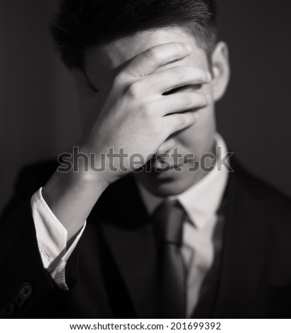 Stressed business man. - stock photo