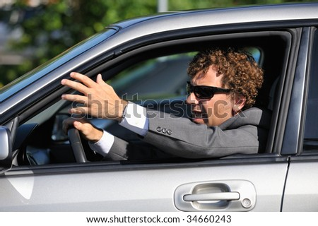 Stressed driver - stock photo
