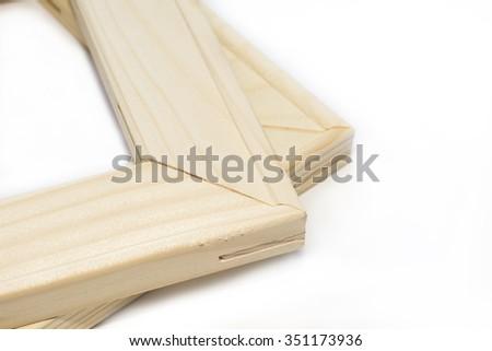 Stretcher bar frames  isolated on white - stock photo