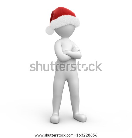 strict Santa. image with a work path - stock photo