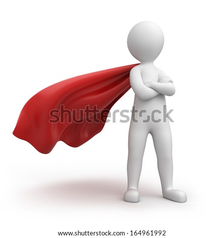strict superman, image with a work path - stock photo