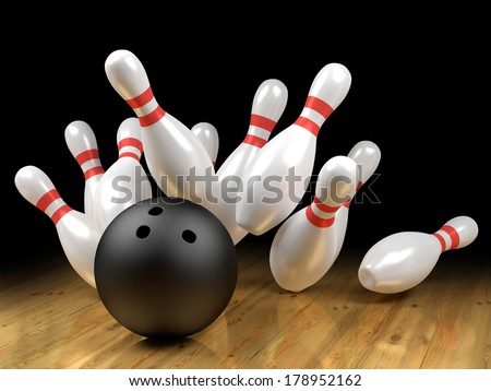 Strike! - stock photo