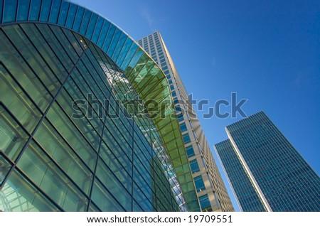 striking corporate architecture - stock photo