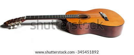 string guitar on a white background - stock photo