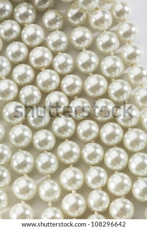 String of white pearls - stock photo