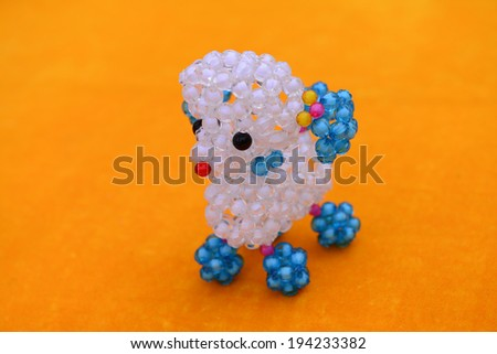 String together with pearl animals act the role ofing is tasted   - stock photo