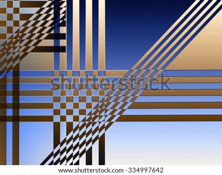 Strip line. Abstract Geometric Background, made of intersecting geometric figures. - stock photo