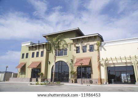 Strip Mall Construction - stock photo