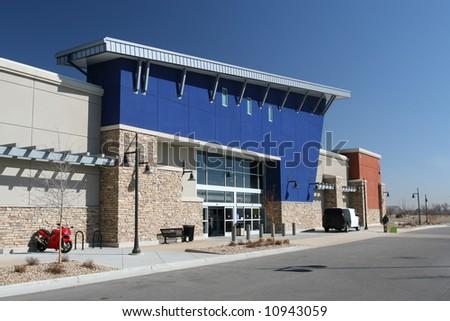 Strip Shopping Center - stock photo