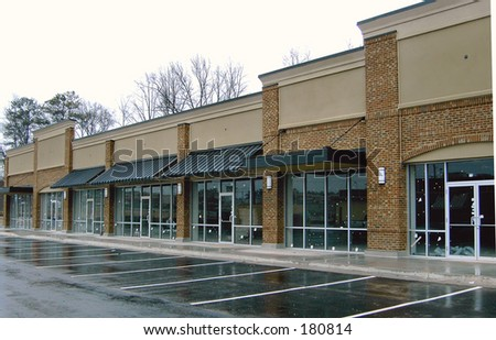 Strip Shopping Center - stock photo