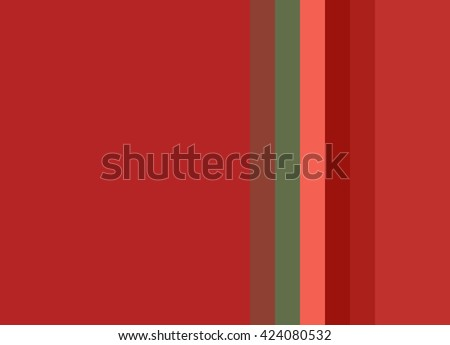 Striped Background in bright tomato reds with coral and green accents, vertical stripes, color palette - stock photo