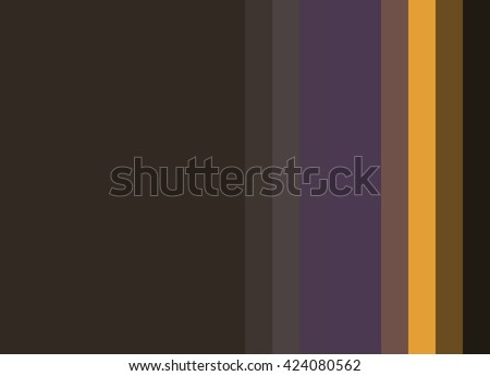 Striped Background in deep espresso browns with purple and bright gold accents, vertical stripes, color palette - stock photo