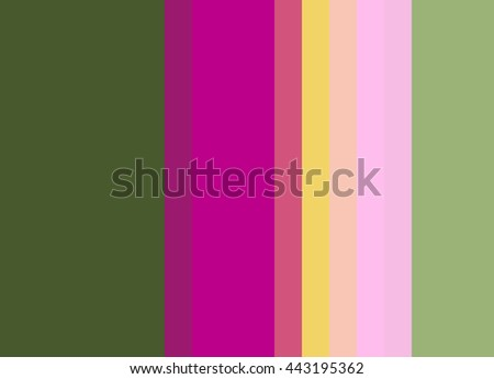 Striped Background In Spanish Mos Deep Olive Green Bright Fuchsia With Pastel Yellow