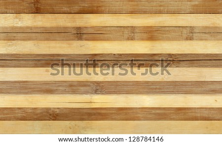 Striped bamboo wood board seamless tiled texture, background - stock photo