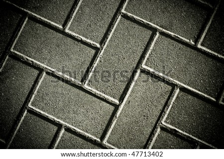 striped brick sidewalk, texture - stock photo