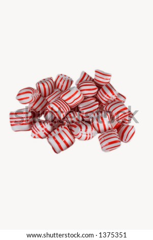 striped candy - stock photo