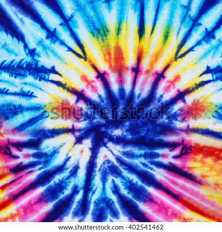 Striped Dye Pattern with colorful tie dye technique, Fabric and textile background