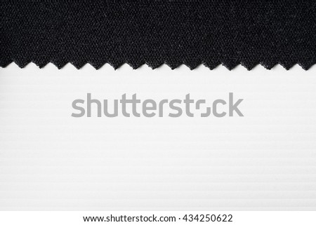 Striped embossed paper and fabric. White and black background. textile and wallpaper texture. - stock photo