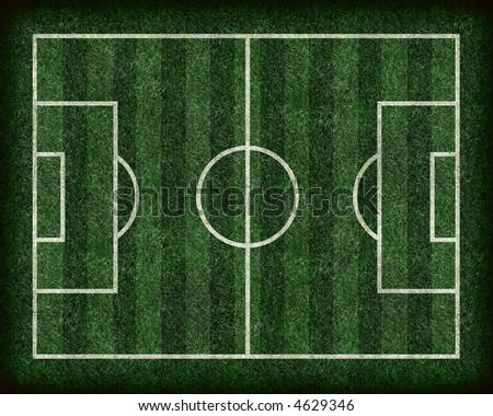 Striped Football/Soccer Field - stock photo