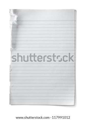 Striped paper isolated on white background - stock photo