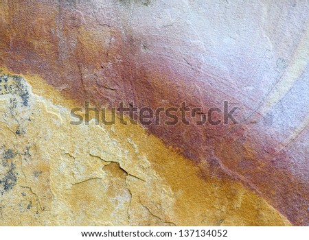 Striped rock texture - Stone sedimentation - stock photo