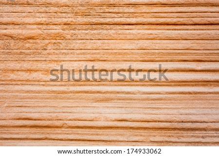 Striped Sandstone Canyon Wall Background - stock photo