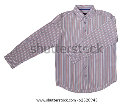 striped shirt isolated on white - stock photo