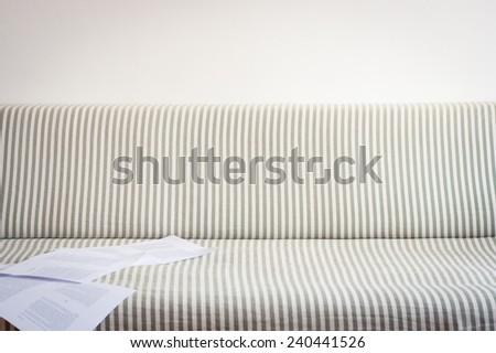 Striped sofa background - stock photo