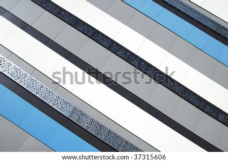 Striped wall background