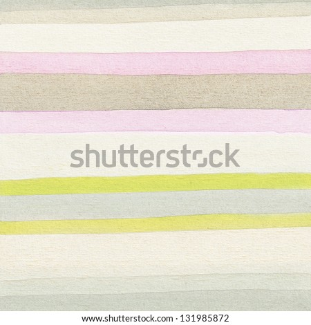 Striped watercolor background, seamless vertical - stock photo