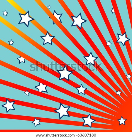 stripes and stars background, abstract composition; art illustration; for vector format please visit my gallery